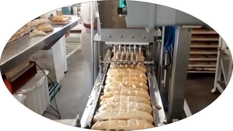 Maquina de rechear pão de Alho